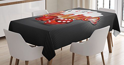 Poker Tournament Decorations Tablecloth By Ambesonne