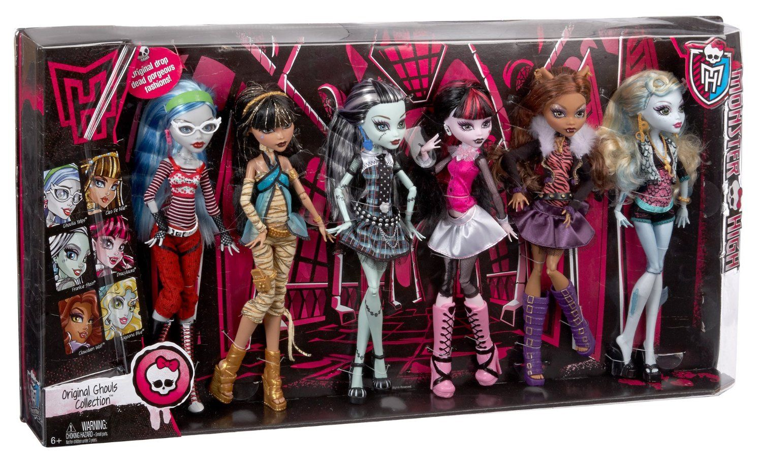 Amazon Com Monster High Dolls Original Ghouls Collection Toys Games Monster High Dolls Monster High Monster High Characters