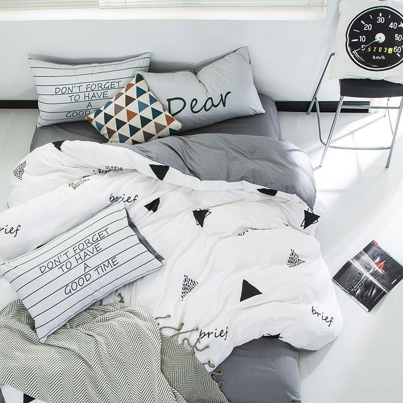 Bedding Duvet Cover Comforter Quilt Printed Cotton Twin Pillowcase Flat Sheet