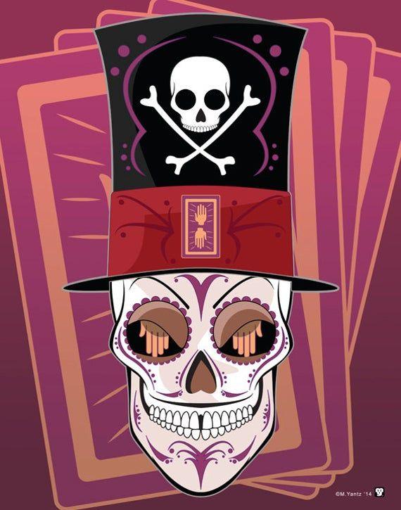 Dr. Facilier Disney Villain Sugar Skull Print 11x14 print