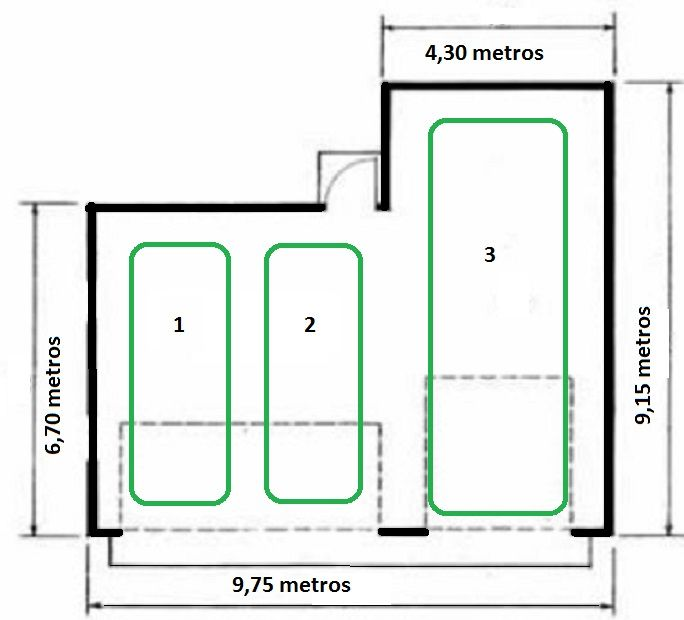 Plano garaje para 3 coches deco pinterest garajes - Garaje de coches ...