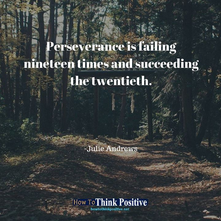 Succeeding Quotes Awesome Perseverance Is Failing Nineteen Times And Succeeding The