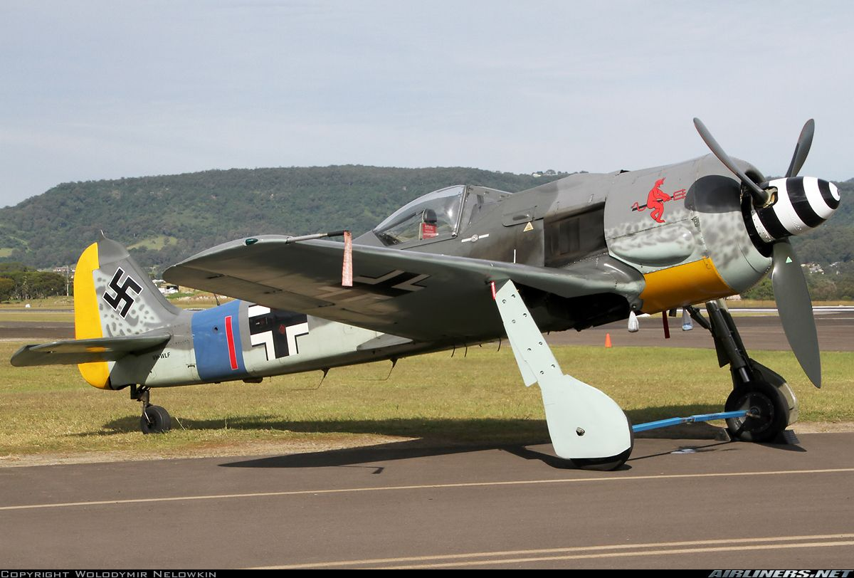Front Stbd view of Private FockeWulf Fw 190A8 VHWLF Cn