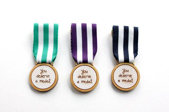 The You Deserve A Medal Brooch is designed to be given to somebody that has done…