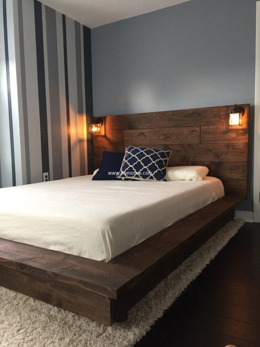 100 Diy Ideas For Wood Pallet Beds Wood Platform Bed Frame Bed