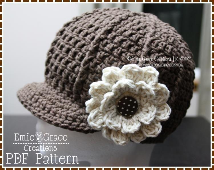 Newsboy Hat Crochet Pattern - SARA | Sombreros de ganchillo, Gorros ...