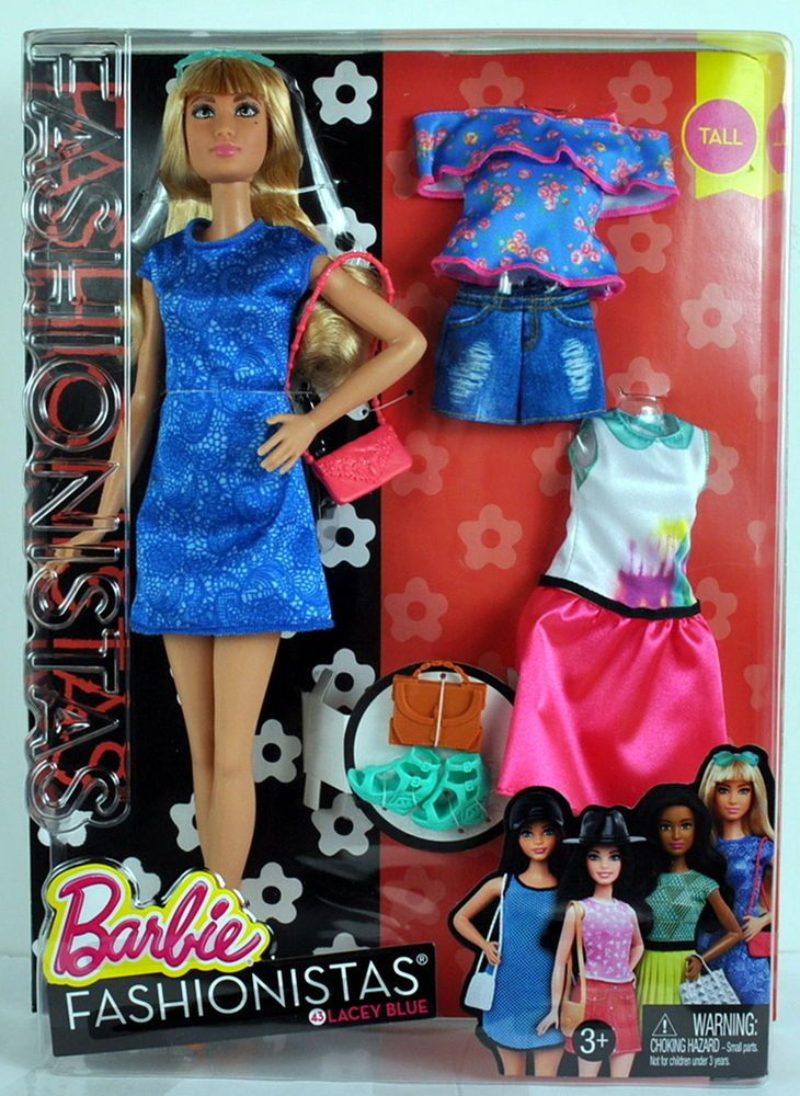 official site buying now lowest price 2016 Barbie Fashionistas Tall Doll LACEY BLUE #43 w/ Fashion ...