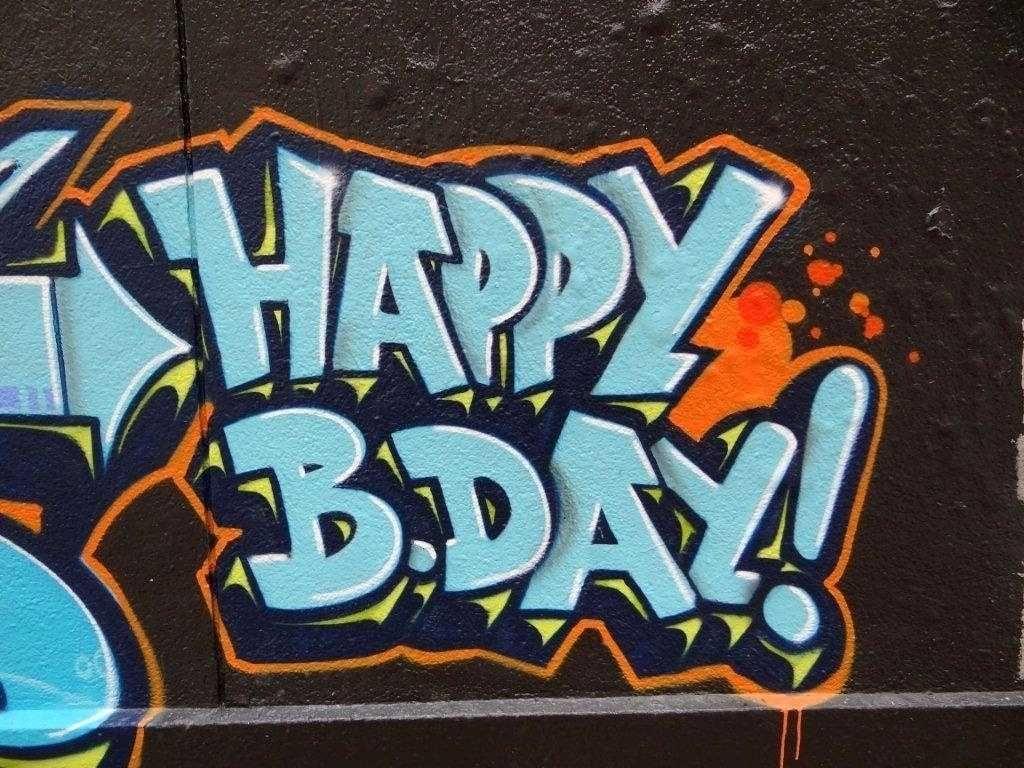 Картинки, картинки день рождение прикольные граффити