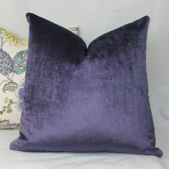 16X26 Pillow Insert Purple Velvet Pillow Cover 18X18 20X20 22X22 24X24 26X26 Euro Sham