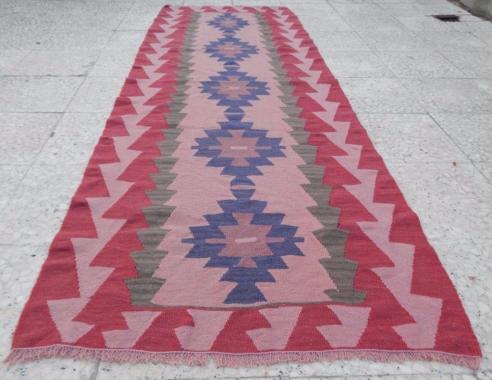 Details About Vintage Handwoven Soft Color Long Hallway