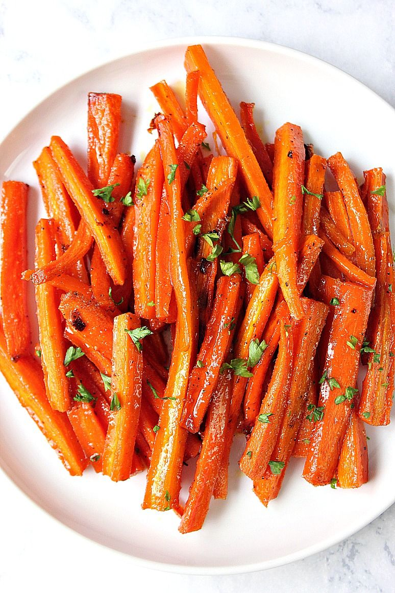 Brown Sugar Roasted Carrots Sweet And Garlicky Carrots