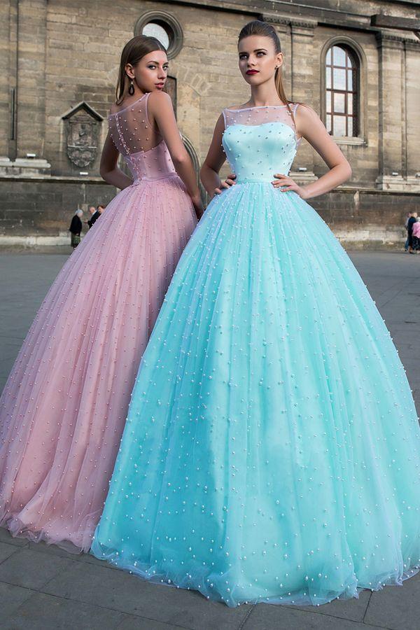 Gorgeous Tulle Bateau Neckline A-line Evening/Prom Dresses ...