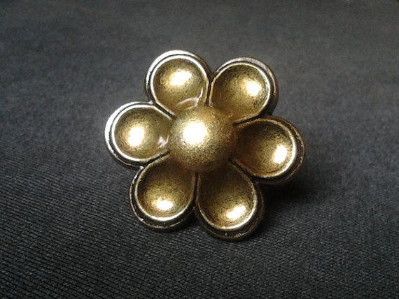 Dresser Knob Drawer Knobs Pulls Handles Flower Metal Antique Brass