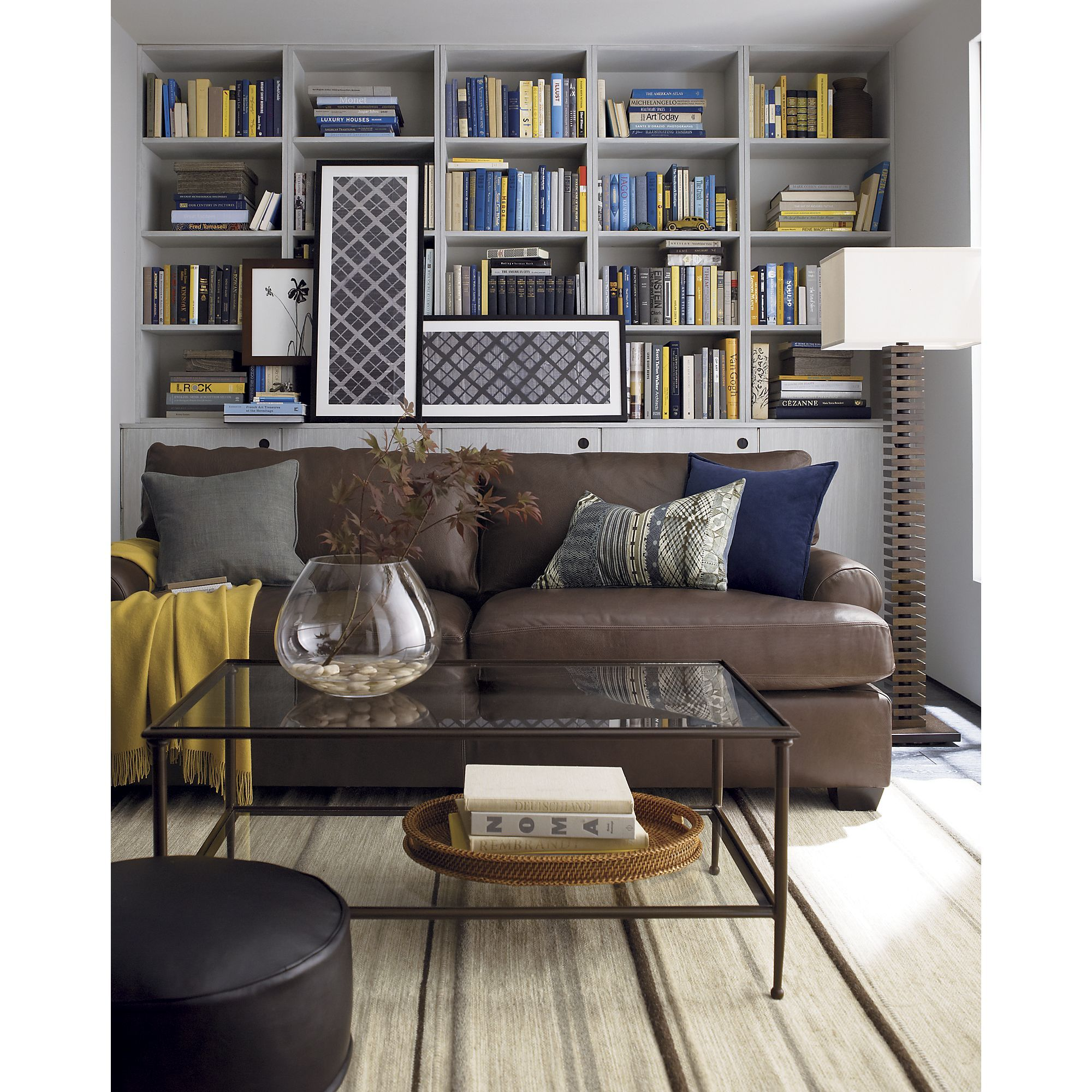 Grey Blue And Brown Living Room Design: Brown Sofa Living Room, Brown