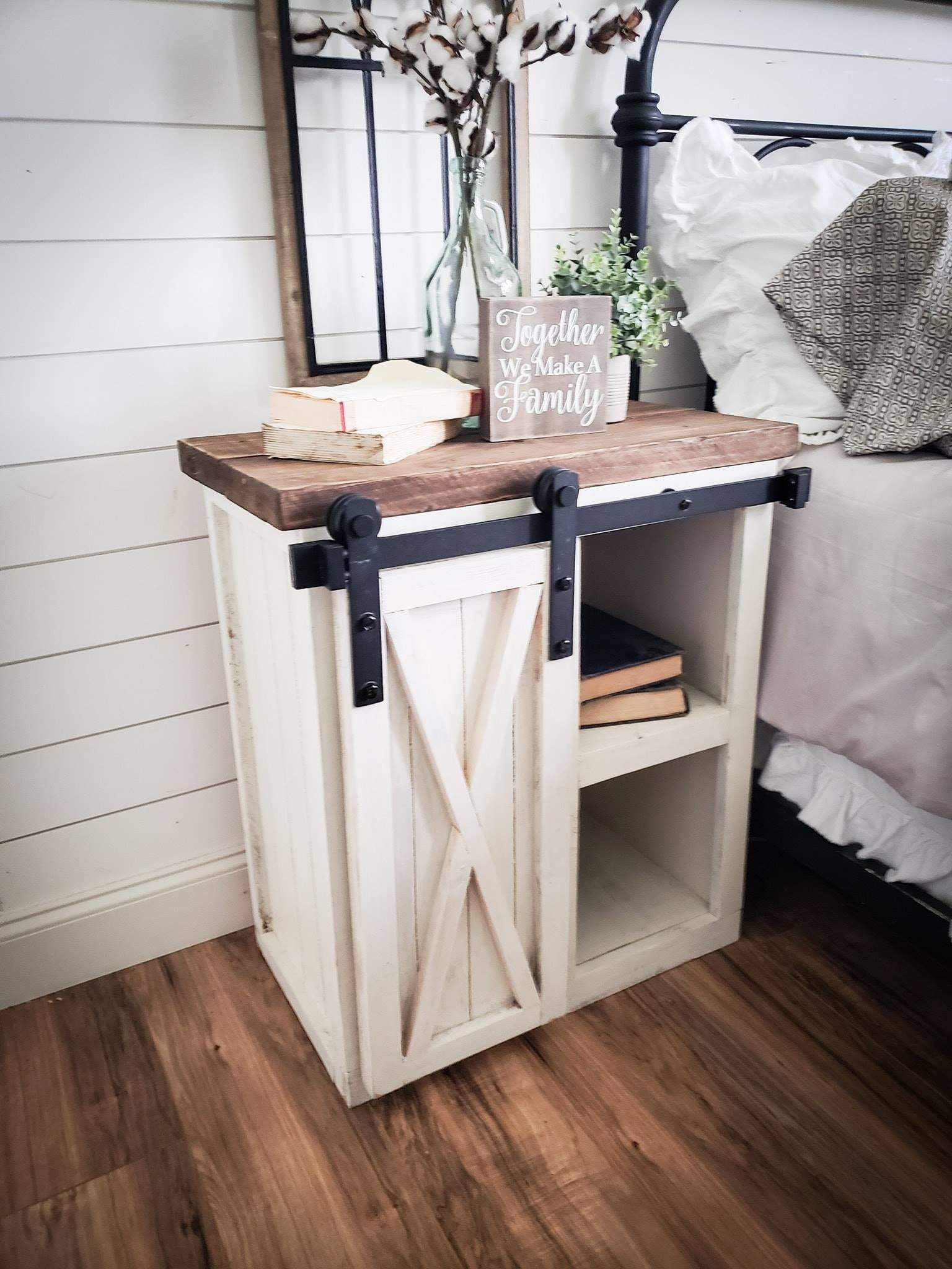 Bella Farmhouse Nightstand Rustic nightstand, Home decor