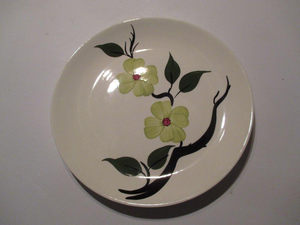 Blue Ridge Pottery Chartreuse Southern Dogwood Dinner Plate