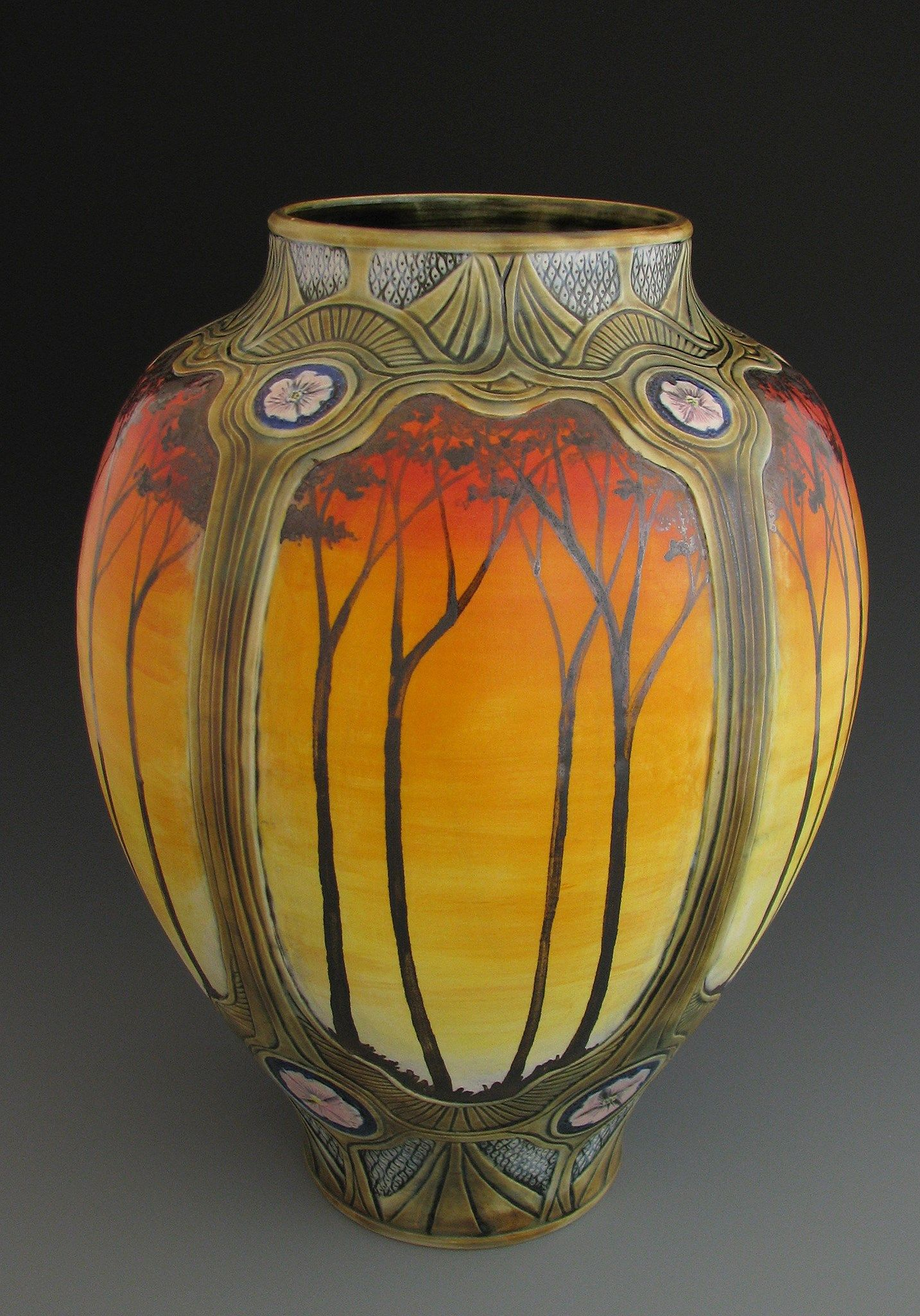 Calmwater designs stephanie young sunset glazes trees calmwater designs stephanie young sunset glazes trees capca artistic tilepottery vasepottery reviewsmspy