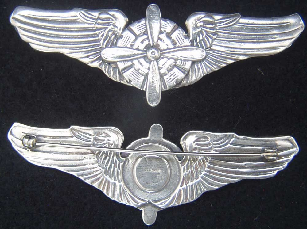 WWII to 1950's USAF Flight Engineer wings.