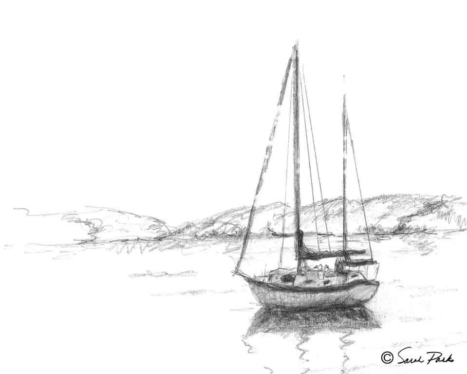 Sailboat-sm.jpg (959×767) | boat | Pinterest | Artist ...