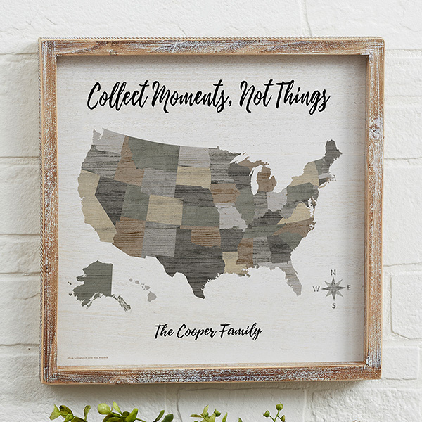 Barnboard Map 12x12 Personalized Whitewashed Wood Frame Wall Art Wood Wall Art Frames On Wall Barn Wood Frames