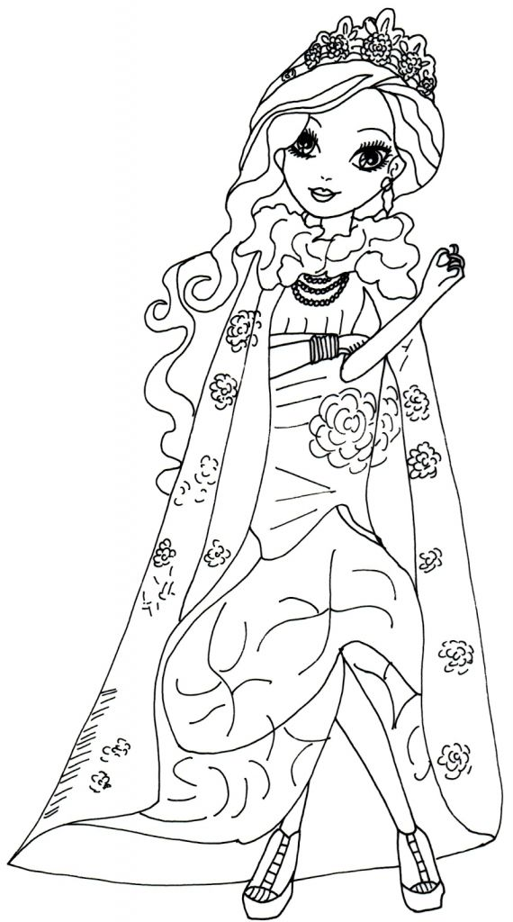 free online printable ever after high coloring sheets