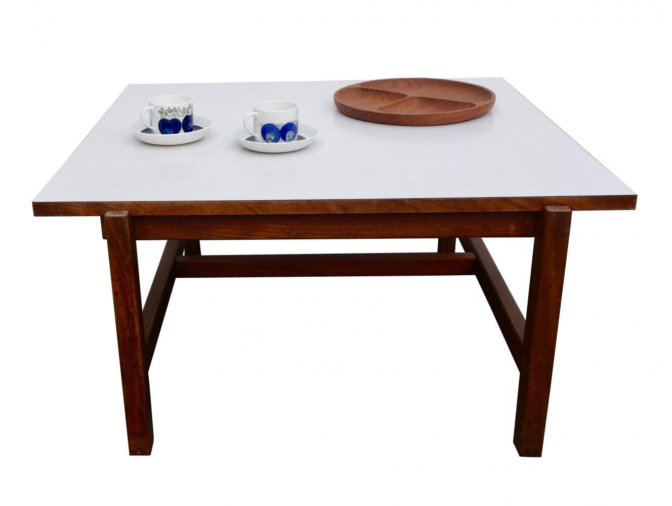 teak coffee table. Pastoe TH08 Teak Coffee Table With Reversible White/teak Top R