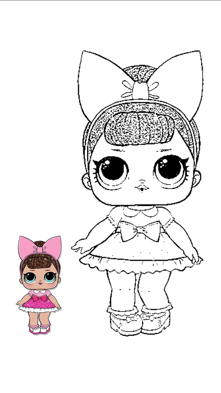 Lol Rosada Para Colorear Lol Dolls Girly Drawings Bunny Images