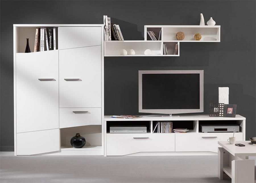 gautier gami palace modern wall storage system in white or oak