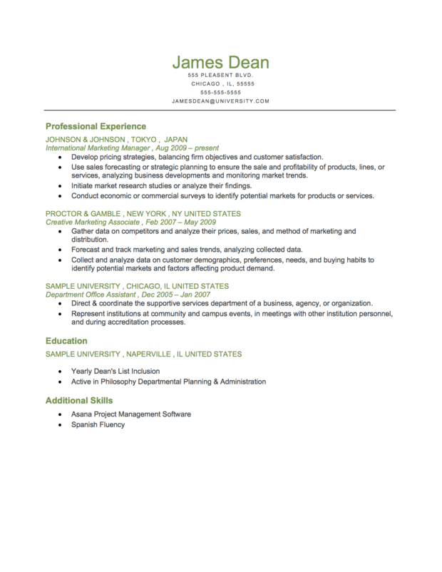 Example Of MidLevel Reverse Chronological Resume Download For – Professional Chronological Resume Template