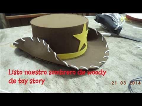 tutorial paso a paso de sombrero woody de toy story en goma eva ... 33b639d0587