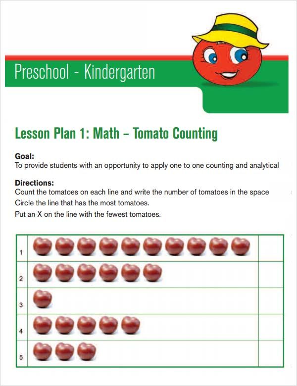 Image Result For Daily Lesson Plan Template For Preschool - Daily lesson plan template for kindergarten