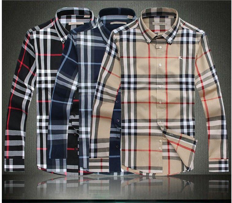 6 19 Top Designer Brand New Arrival Dress Shirts Man Items Mens Shirt Dress Business Casual Attire Business Casual Dresses