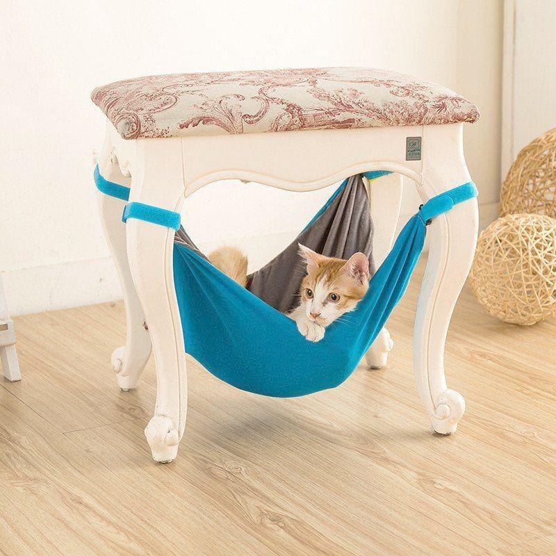 Pet Kitten Cat Hammock Bed Hanging Removable Velcro