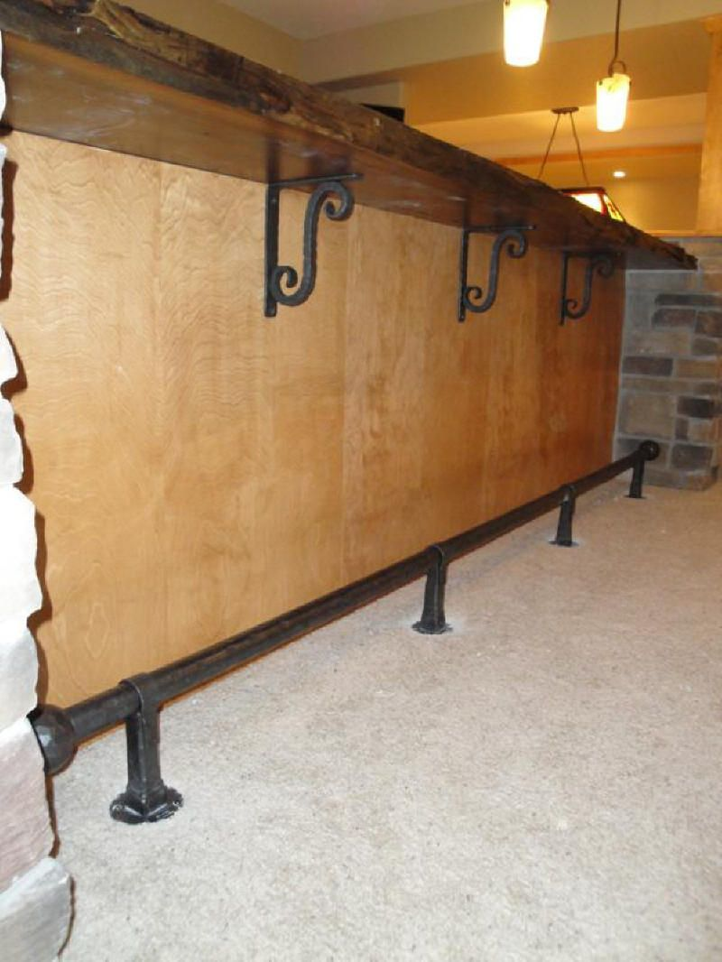 Bar Foot Rail Gallery Bars For Home Bar Design Restaurant Rustic Vintage Decor