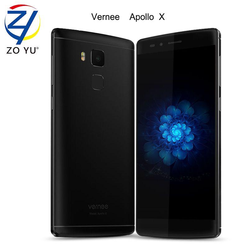 Vernee Apollo X Smart phone 4G Lte Android 6.0 4GB+64GB Helio X20 Mobile Phone 5.5 HD 13.0 MP Fingerprint ID 3500mAh Cell phone