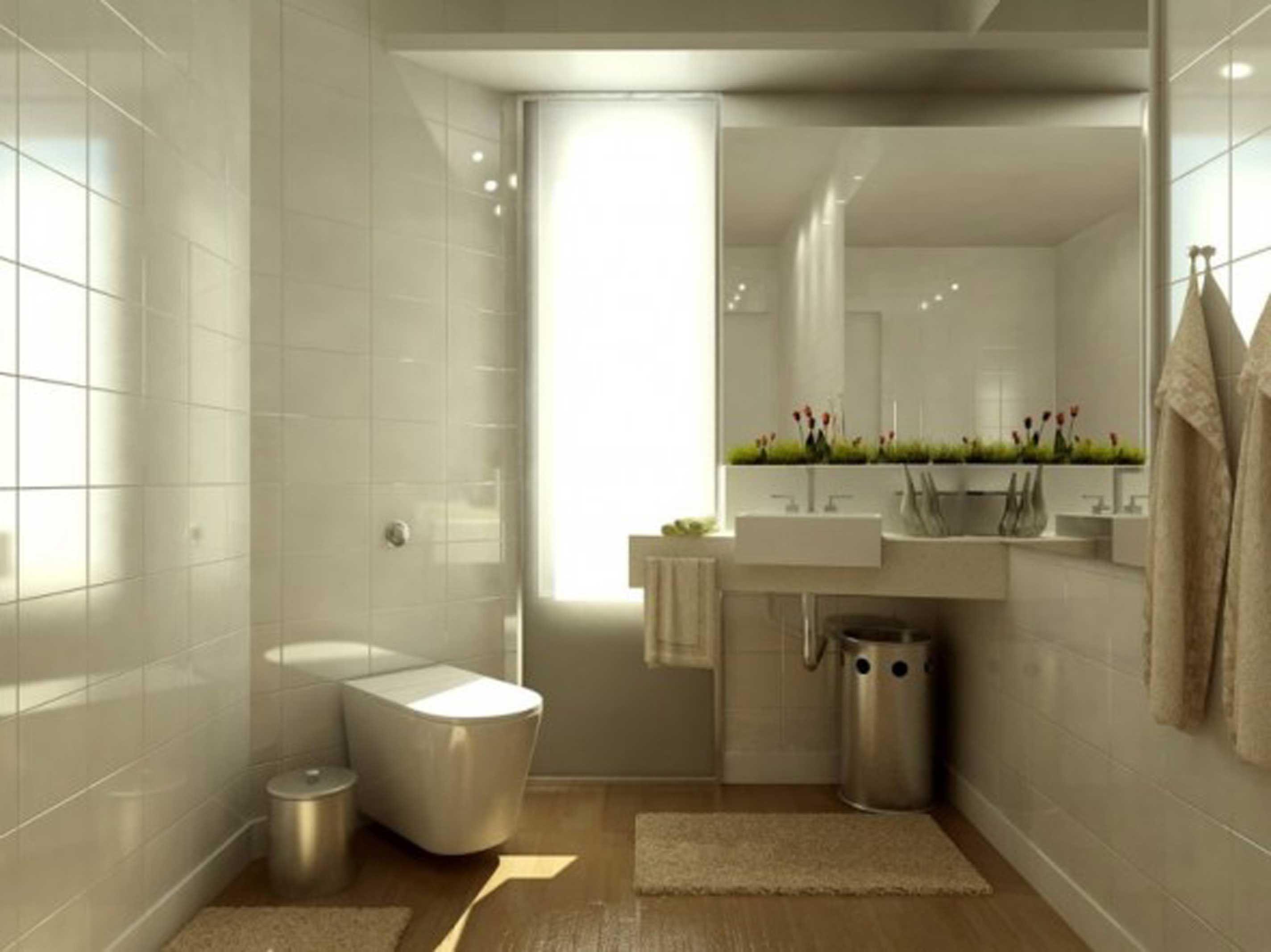 Badkamer inspiratie wastafel toilet hangend tegels sfeer