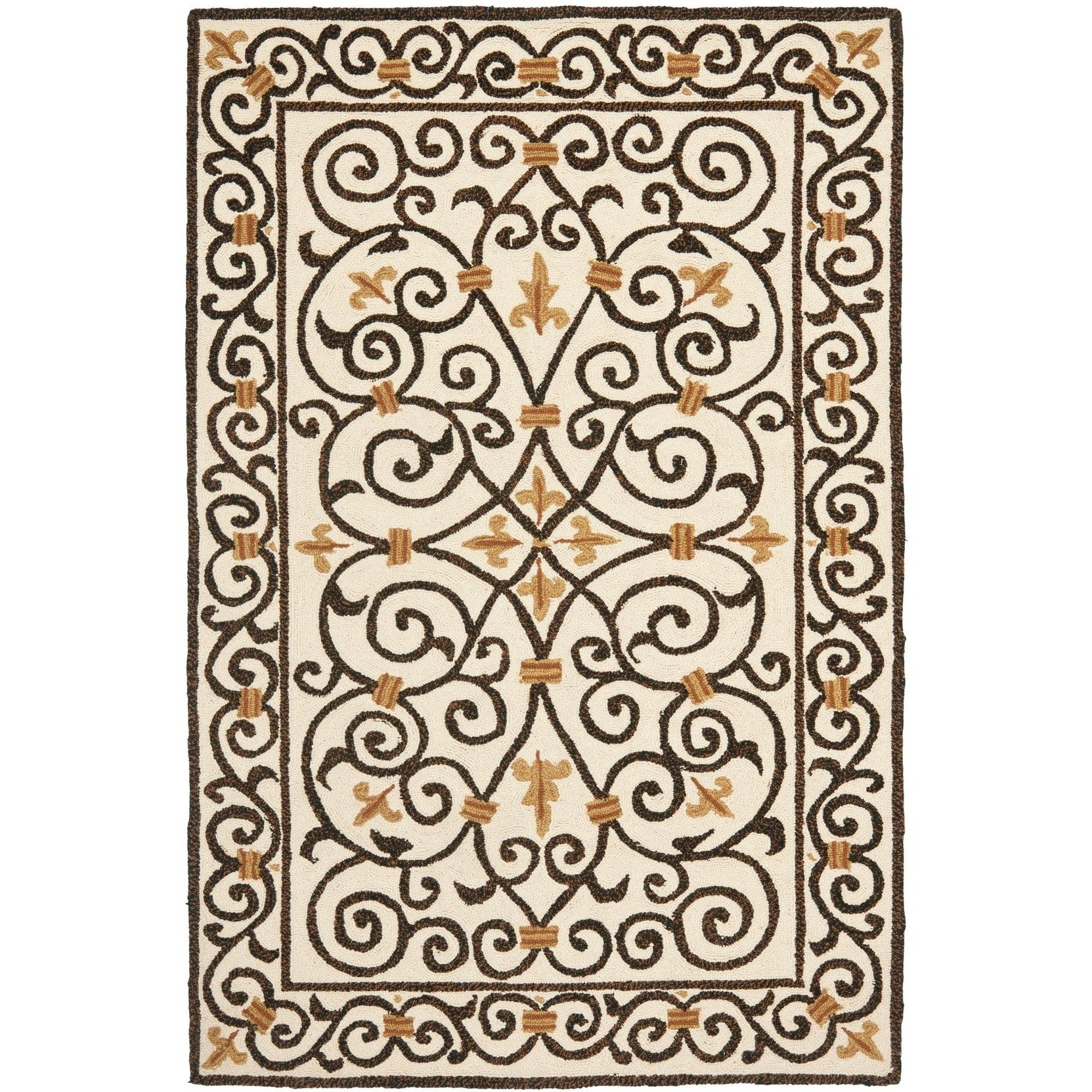 Best Safavieh Hand Hooked Chelsea Irongate Ivory Wool Rug 3 400 x 300