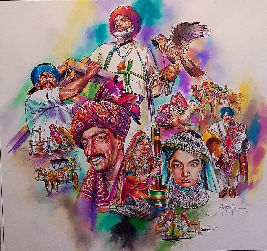 An Iconic Painting Titled Unity In Diversity By Veteran Painter