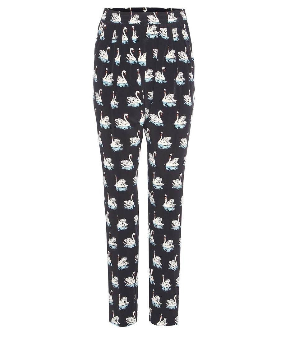 Fashion trends 2017 summer - Stella Mccartney Christine Printed Silk Trousers