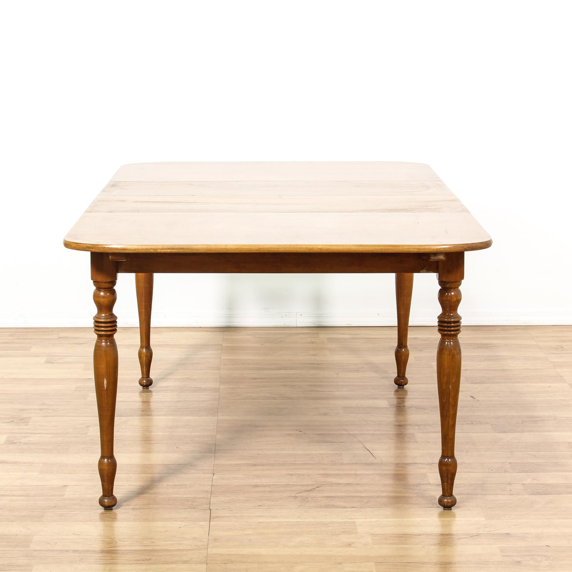This Drop Leaf Dining Table Is Featured In A Solid Maple