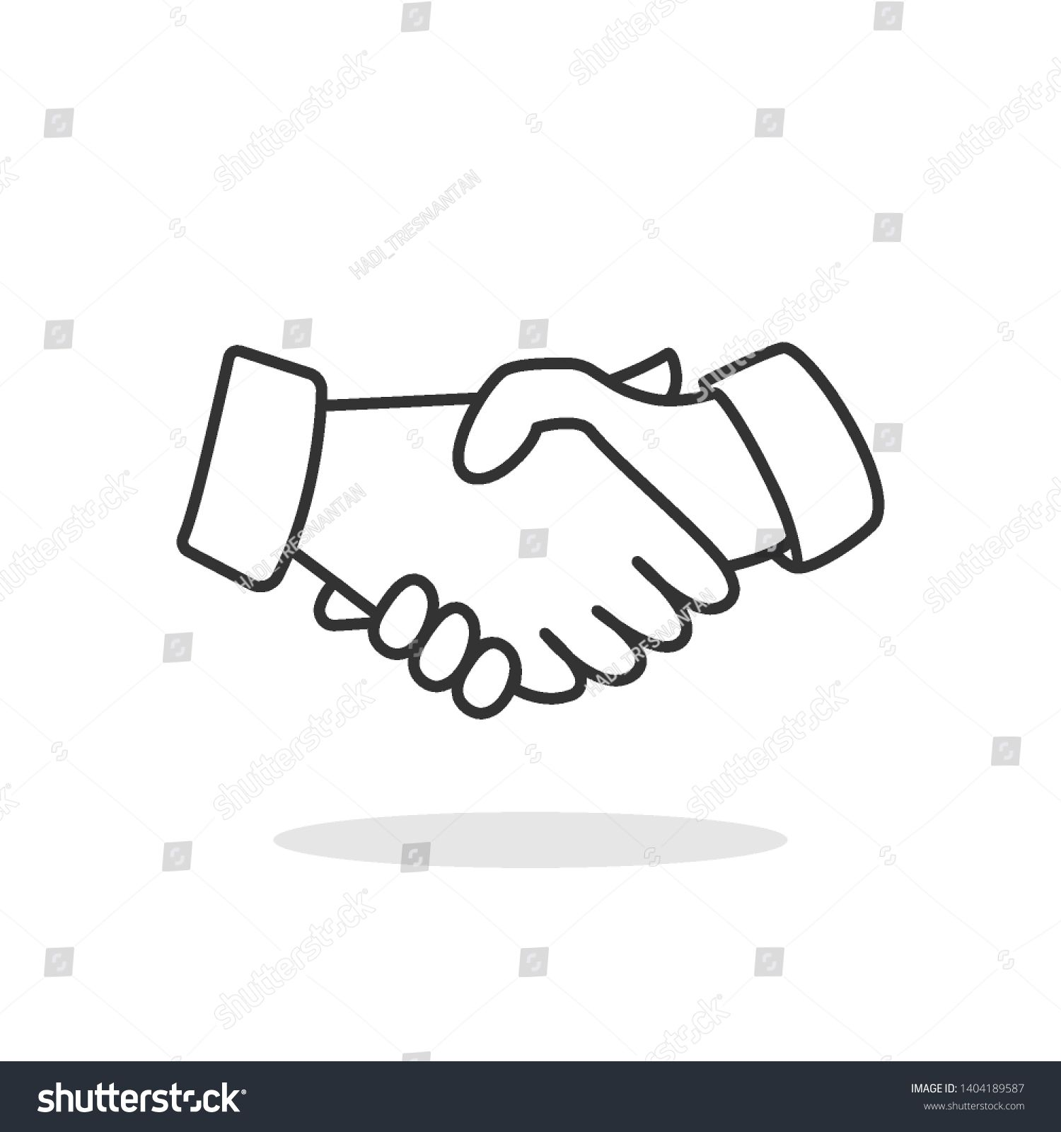 Nhandshake Icon Deal Agreement Or Relationship Illustration As A Simple Vector Sign Illustration Vector Relationship