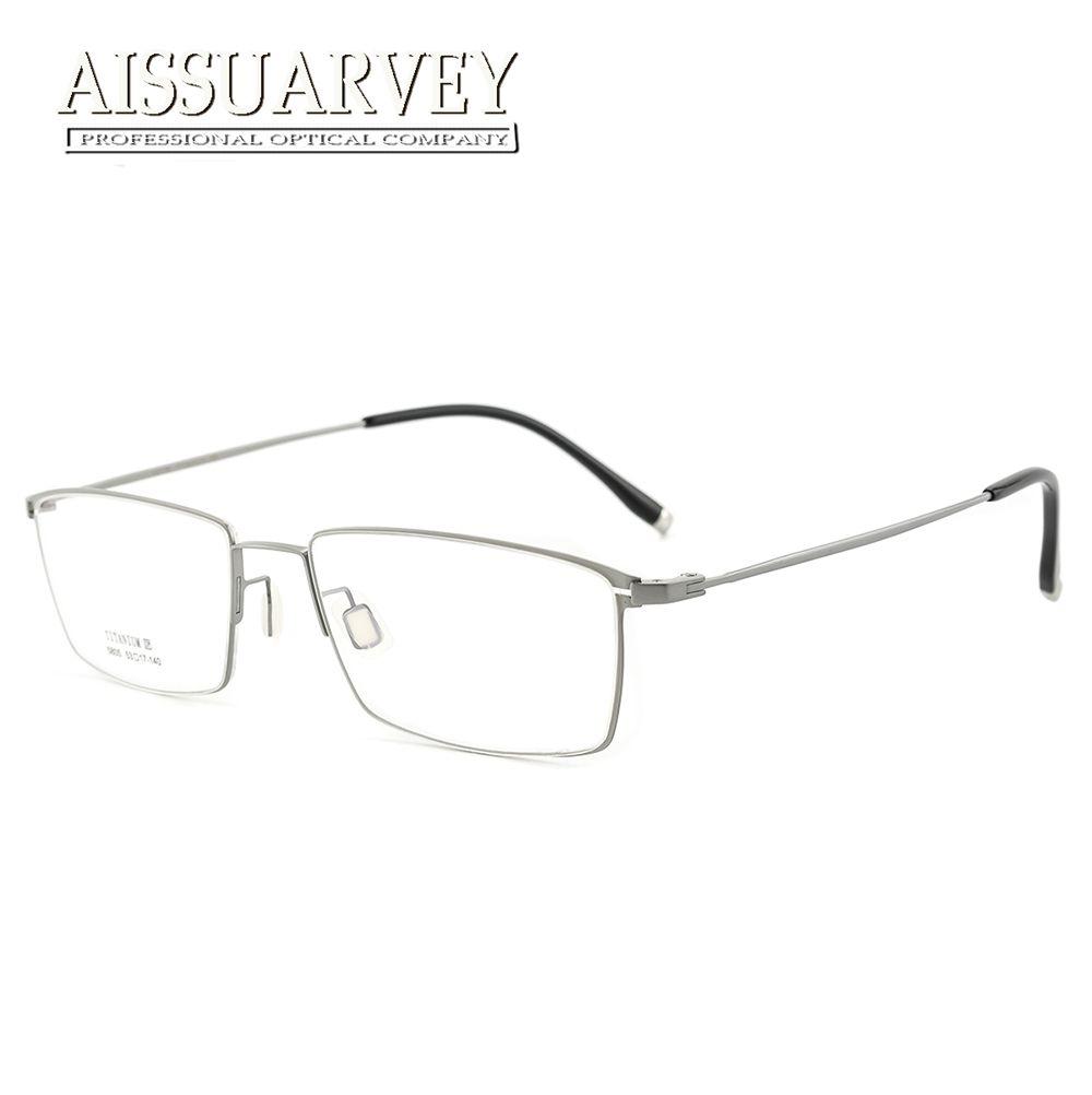 db6c5e089ce3 Titanium Eyeglasses Frames Men Optical Eyewear Flexible Light Prescription  Goggles Brand Designer Eyeglasses Top Quality Thin