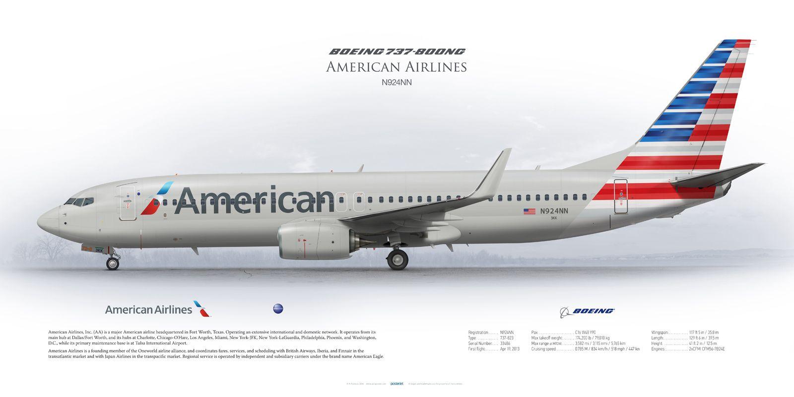 Boeing 737-800 American Airlines N924NN   American Airlines