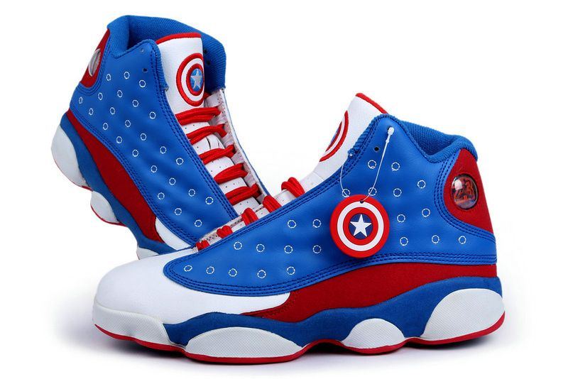 Air Jordan 13 Captain American Custom for Sale