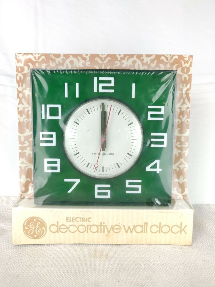 Emerald Green Ge 2173 Electric Decorative Wall Clock Nib Generalelectric Wall Clock Clock Clock Wall Decor