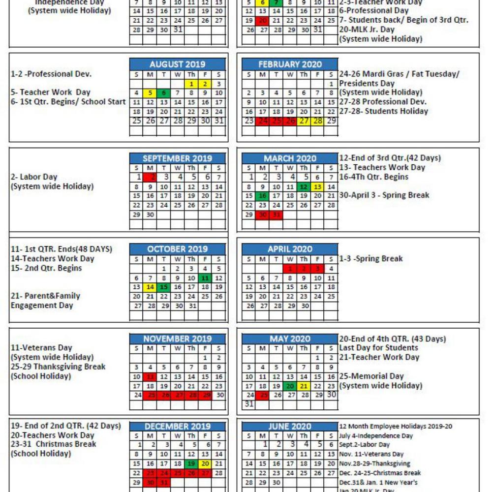 Mcpss Releases 2019 20 School Year Calendar Thewire School Calendar Academic Calendar Martin County
