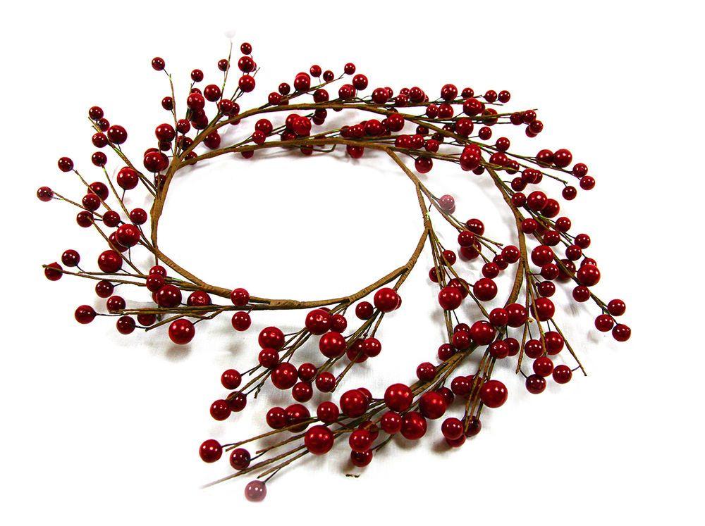 weihnachten kranz weihnachtsgirlande rote beeren. Black Bedroom Furniture Sets. Home Design Ideas