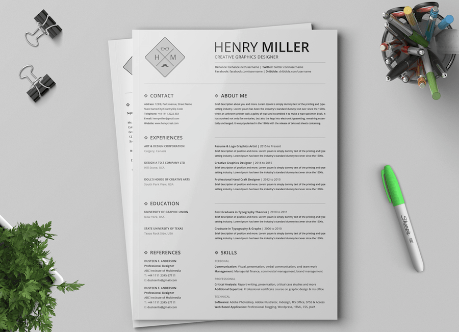 Printable Free Resume Templates 2019 in 2020 (With images