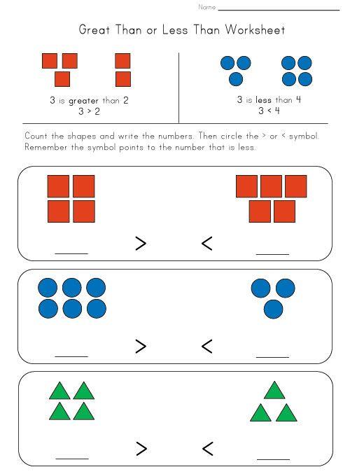 Greater Less Worksheet Mathtastic Pinterest Worksheets Maths