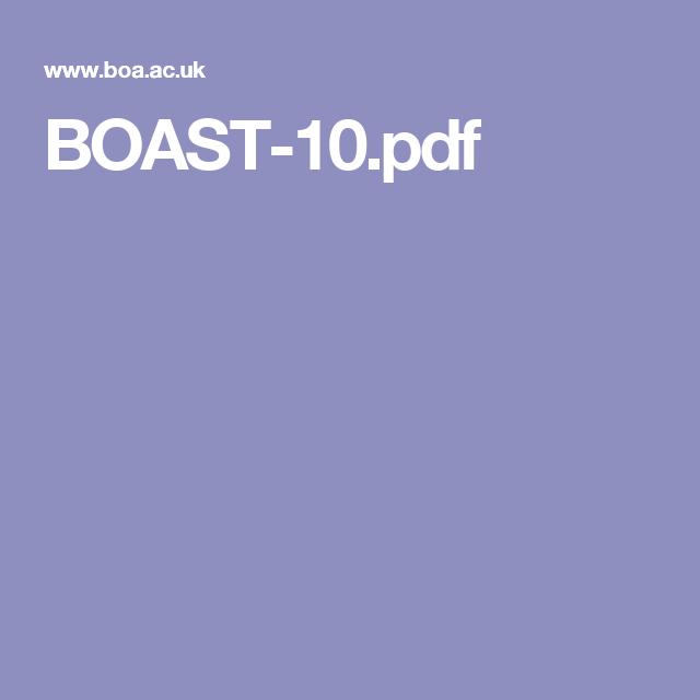BOAST 10: Compartment syndrome